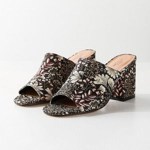 Urban Outfitters Floral jacquard mule shoe